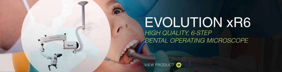 Evolution xR6 High Quality, 6-step dental operating microscope. View product.