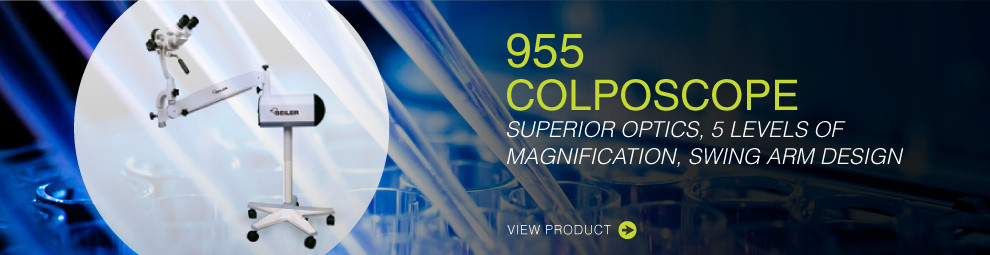 955 Colposcope. Superior optics, 5 levels of magnification, swing arm design. View product.