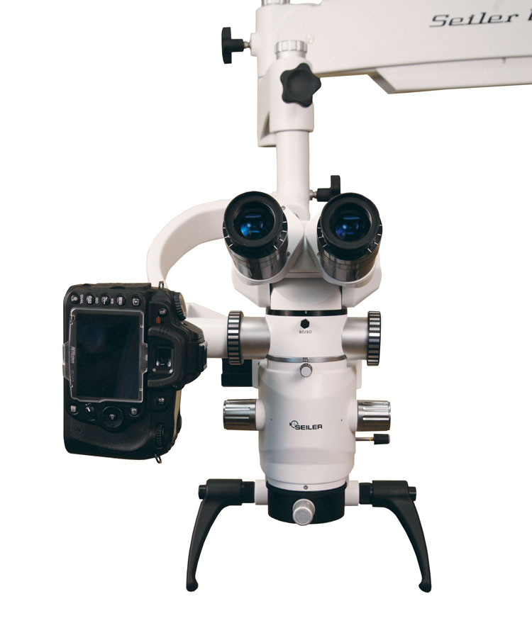 Dental microscope with digital camera