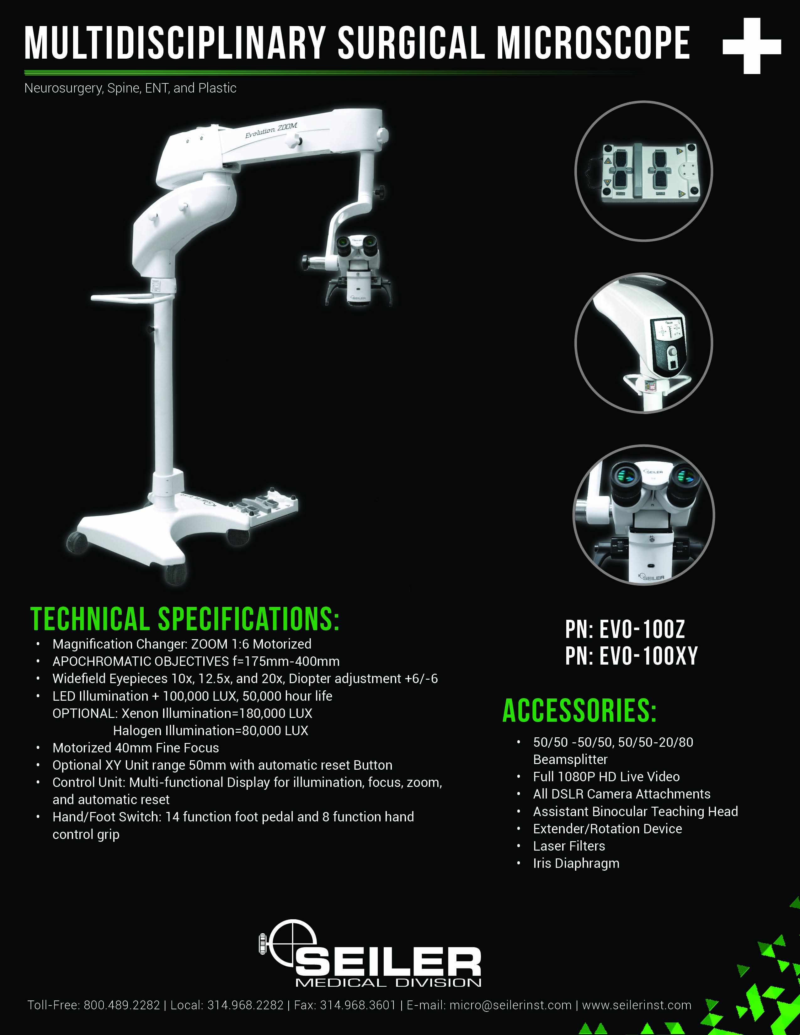 Evolution Zoom Multidisciplinary Surgical Microscope