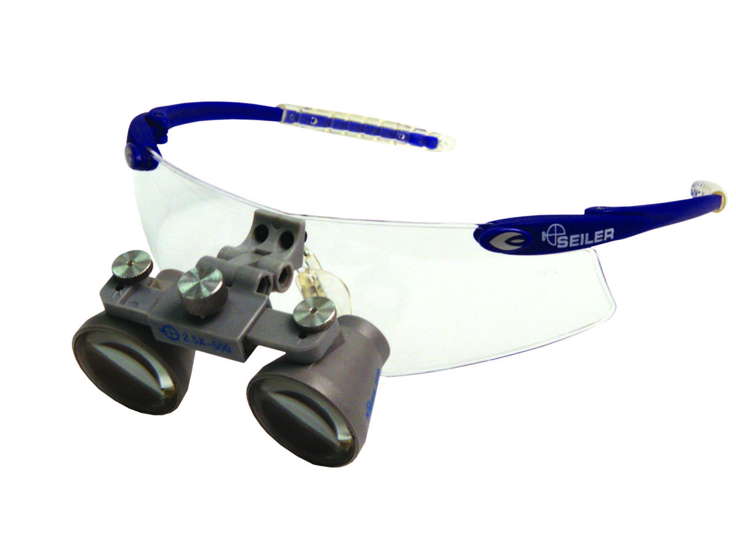 Blue sport loupes front