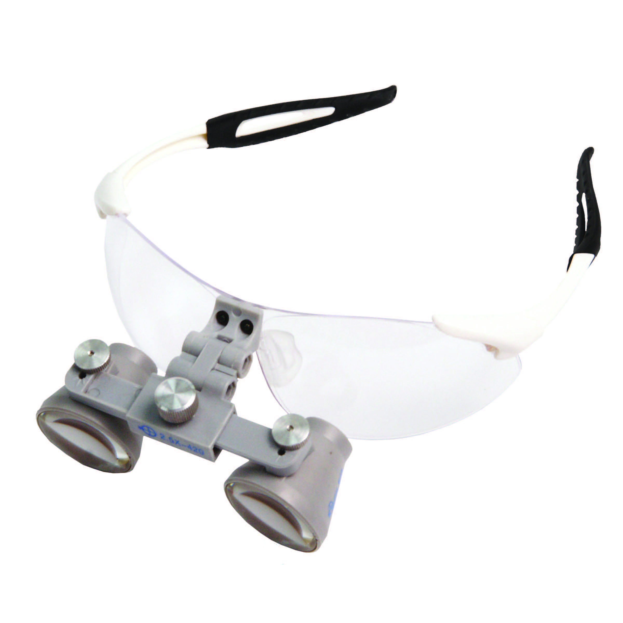 white sport loupes front view