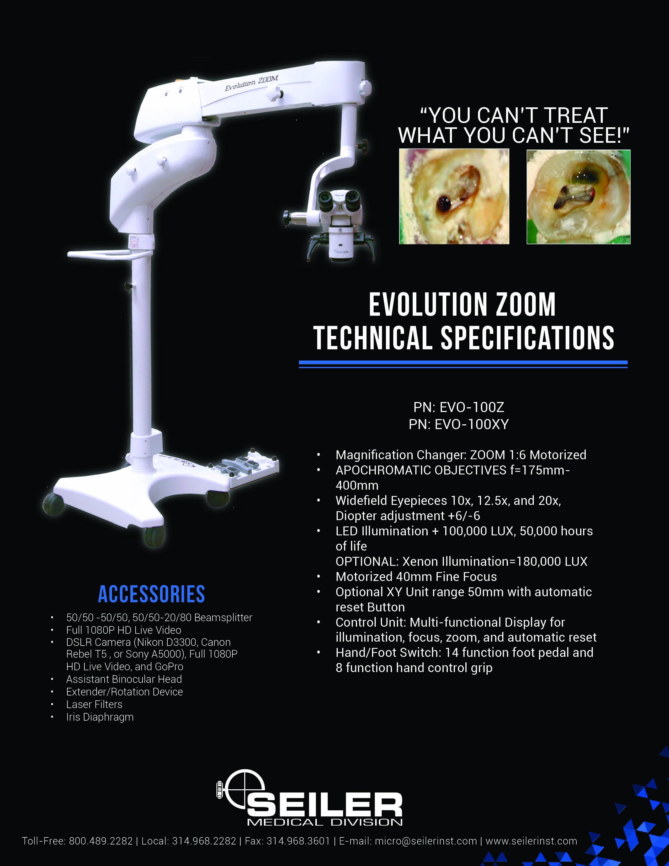Zoom dental spec sheet back page