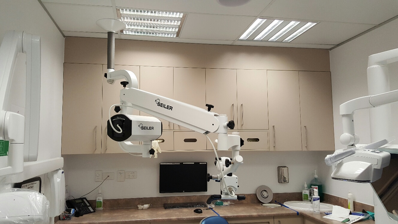 Microscope in office
