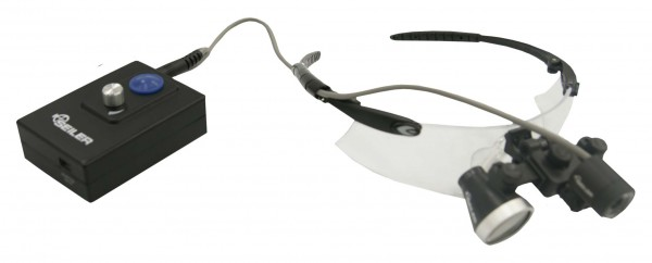 black sport loupes with headlight